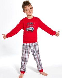 długa piżama chłopięca z samochodem